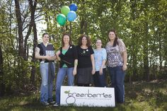 Some of the smiling staff at greenberries