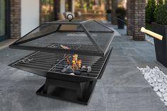 Wowcher | Deal - UK Home & Garden Store Ltd./£24 instead of £99.99 (from UK Home and Garden Store) for an outdoor garden fire pit and BBQ grill – save a sizzling 76%
