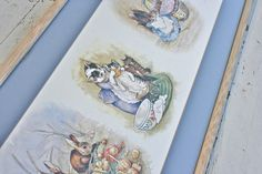 Extra Large Framed Beatrix Potter Nursery Rhyme by MellowMermaid, $55.00