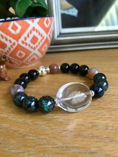 Take Me With You/ Gemstone Bracelets/ AAA Gemstones/ Luxury Boho Chic Bracelets/ Mens Bracelets/ Women's Bracelets/ One of a Kind Gemstone Bracelets, Bracelets For Men, Healing Stones, Healing Crystals, Clear Quartz Crystal, Gifts For Him, Boho Chic, Handmade Jewelry, Gemstones