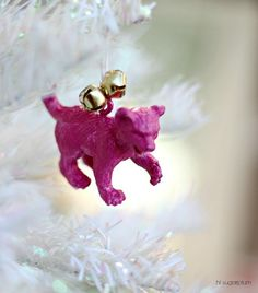 Retired Toy Ornament - Cute DIY ornaments for the kids. Turn their fav little toys into ornaments once they no longer love them. Merry Christmas To You, Diy Christmas Ornaments, Christmas Decorations, Holiday Decor, Christmas Ideas, Christmas Bulbs, Diy Toys, Diy Flowers, Craft Gifts