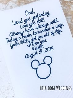 Excited to share this item from my shop: Disney Wedding Father of the bride gift Mickey Mouse Disney Cruise Wedding, Honeymoon Cruise, Disney Bride, Cruise Travel, Fairytale Weddings, Cinderella Wedding, Bride Gifts, Wedding Gifts, Wedding Stuff