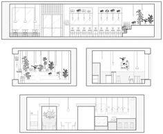 Baranova Pokorsky creates plant-filled cafe in St Petersburg Teras – Home Decoration Interior Architecture Drawing, Interior Design Renderings, Drawing Interior, Cafe Interior Design, Interior Sketch, Concept Architecture, Interior Design Portfolios, Cafe Floor Plan, Restaurant Floor Plan