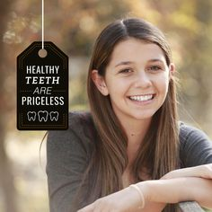 YOU CAN'T PUT A price on healthy teeth! We hope you are showing yours off! davidtoney.com #teeth #smile