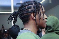 ASAP Rocky Braids - Top Rappers with Braids: Braided Hairstyles For Men #menshairstyles #menshair #menshaircuts #menshaircutideas #menshairstyletrends #mensfashion #mensstyle #fade #undercut #barbershop #barber #rappers #hiphop #music #blackmen #celebrities Plats Hairstyles, Mens Braids Hairstyles, Black Men Hairstyles, Cool Hairstyles, Asap Rocky Braids, Braid Styles For Men, Curly Hair Styles, Natural Hair Styles, Shaved Hair Designs