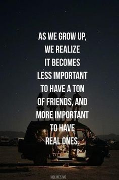 real friends...