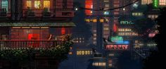 "The Last Night System: PC, PS4 Status: In Development Year: TBA 2016 Developer: Odd Tales Website: oddtales.net  Description: ""We want to revive the forgotten cinematic platformer genre. We want to pursue the tradition of Another World, Flashback, & Oddworld. We want to lead the next generation of 2D, handcrafted pixel art.   Expect a 2D cyberpunk open world, made up of 4 unique districts each with distinct architecture, cultures and industries."""
