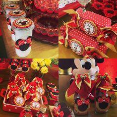 Festa Minnie com muitos mimos personalizados #guloseimasPersonalizadas #feitocomamor❤ #feitocomcarinho❤️
