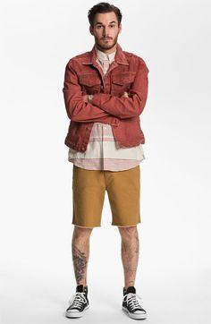 7 For All Mankind® Denim Jacket, Ezekiel Shirt & RVCA Shorts  available at #Nordstrom