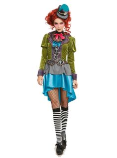 Delightfully Mad Hatter Womens Wonderland Costume | Pinterest | Mad hatter costumes Wonderland costumes and Mad  sc 1 st  Pinterest : mad hatter womens halloween costume  - Germanpascual.Com