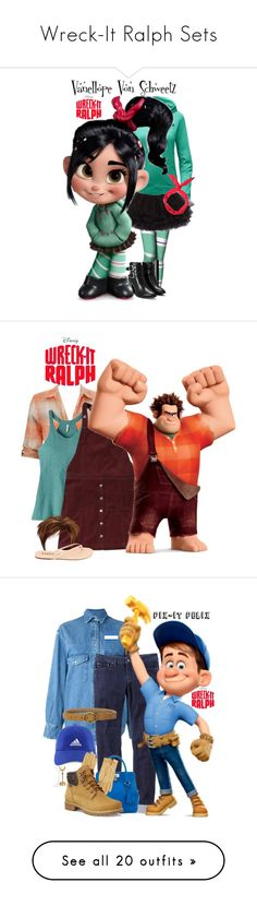"""""""Wreck-It Ralph Sets"""" by allyssister ❤ liked on Polyvore featuring The North Face, NARS Cosmetics, Nasty Gal, RALPH, Mountain Khakis, Hollister Co., Golden Goose, prAna, Hermès and adidas"""