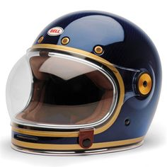 Bell Bullitt Carbon Candy Blue full face helmet main