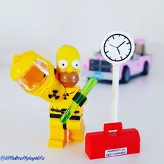 """""""Woohoo it's Home(r) time!"""" #lego #legominifigures #mocs #legostagram #instalego #legophotography #toystagram #toys #toyslagram_lego #legoaddict #legoclub #legoaddiction #brick #bricknetwork #brickcentral #afolclub #afol #minifig #minifigures #legogram #friday #weekend #homer #thesimpsons #simpsons #home #time #powerplant #toolbox #afternoon by littlebrettylegolife"""