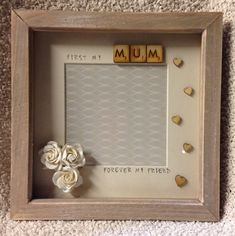 mum photo frame mum picture frame mothers by KindredKraftByLouise