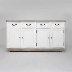 Secr taire bois gris clair 8 tiroirs bureau secretaire for Bureau style romantique