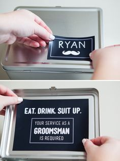 "DIY - ""Will You Be My Groomsman?"" Lunch Box with FREE magnet printables!"