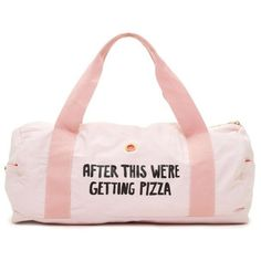 Ban.Do Pink Work It Out Gym Bag - After This Were Getting Pizza ($35) ❤ liked on Polyvore featuring bags, handbags, pink, gym bag, pink bag, pink purse, pink gym bag and pink handbags