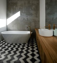Image result for black and white patterned bathtub tile