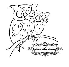 vintage owls embroidery pattern