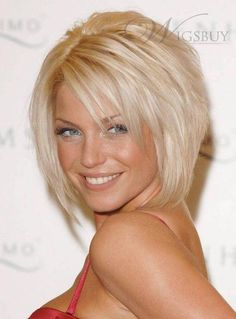 New Trends Soft Top Quality 100% Real Human Hair Short Layerd Straight Bob Lace Wig about 8 Inches