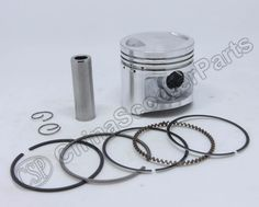 44mm Cylinder Piston Kit 12mm Pin For 49cc 2 Stroke Engine Mini