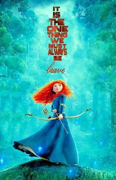 Merida inspires me to be brave. Life's lessons help make us stronger and wiser. Brave Merida, Merida Disney, Brave Disney, Brave Movie Quotes, Disney Movie Quotes, Disney Brave Quotes, Cute Disney, Disney Art, Disney Pixar