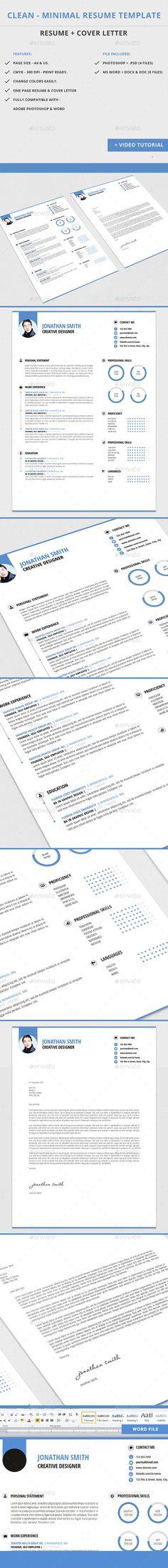 Creative Resume Template Creative, Creativemarket and Pears