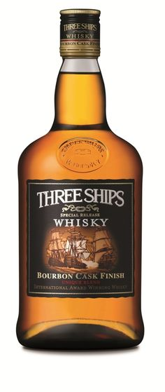 Three Ships bourbon cask finish: blended whisky from South Africa, James Sedgwick distillery, Wellington, South Africa Scotch Whiskey, Bourbon Whiskey, Blended Whisky, Liquor Dispenser, Japanese Whisky, Drink List, Alcohol Bottles, Fun Drinks, Beverages