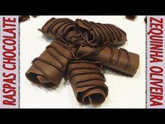 Como fazer raspas de chocolate passo a passo - YouTube