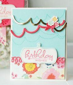 Birthday Garland Card by Betsy Veldman for Papertrey Ink (March 2013)