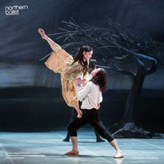 Rachael Gillespie and Jeremy Curnier as Young Cathy and Heathcliff. Wuthering Heights; Photo Emma Kauldhar