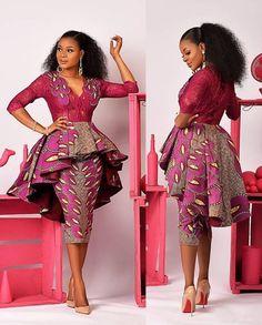 African wedding dress with overlapping pleats african clothing women jacket african women s clothing african party dress vous voulez porter le jean de votre copain pas de problme African Party Dresses, African Wedding Dress, Latest African Fashion Dresses, African Print Dresses, African Print Fashion, Africa Fashion, Nigerian Fashion, Wedding Dresses, Ankara Fashion