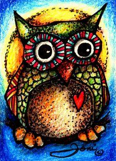 A Little Pop Art Mini Owl Art