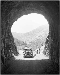 Gold Camp Road Tunnel ~ Colorado Springs Colo ~ 1930