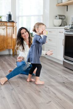 House to Home update: gray wood flooring installation featured by top US DIY blog, Fresh Mommy Blog