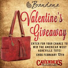 Enter to win this Bandana by #AmericanWest handbag for Valentine's…