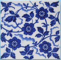 Antique English Wedgwood Transfer Tile (1883~1900)