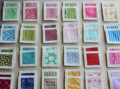 memory game made with scraps from former sewing projects