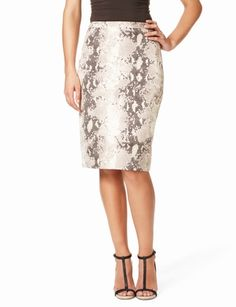 PATTERN: High-Waist Snake-Print Pencil Skirt from The Limited