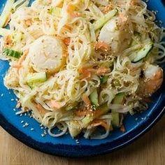 #181136 - Chilled Seafood Pasta Salad Ginger Yogurt Dressing