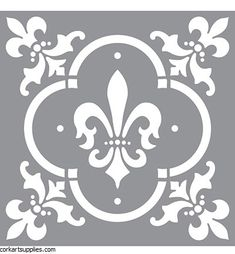 DecoArt Americana Decor Fleur de Lis Tile Stencil at The Home Depot - Mobile Damask Stencil, Stencil Patterns, Stencil Designs, Stencil Opa, Damask Wall, Tree Stencil, Hobbies And Crafts, Diy And Crafts, Chalky Finish Paint