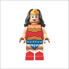 Adesivo Mulher Maravilha Lego - HL-108