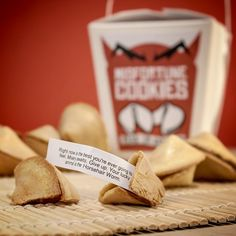 Misfortune Cookies-you deserve to at least crack open a pointed and sobering fortune that stirs you, disturbs you, forces you to look deeply at who you are!