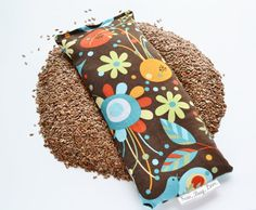 Brown with flowers yoga eye pillow!