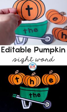 This Pumpkin Editable Sight Word Activity is an exciting way for students to master their sight words so they can become faster and more fluent readers! Sight Word Centers, Sight Word Games, Sight Word Activities, Literacy Activities, Literacy Centers, Preschool Sight Words, Kindergarten Literacy, Montessori Preschool, School Fun