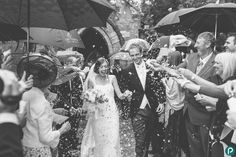 The confetti shot - always fun to photograph. Rebecca and Ashley's family and friends did a great job. Documentary wedding photography by Dorset wedding photographer.