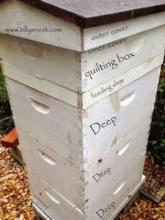 Tilly's Nest: DIY: Winter Beehive Quilting Box to help control moisture and humidity in the hives.