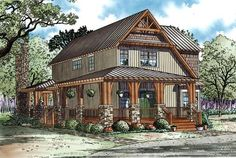 House Plan 82251, Order Code PT101 | Country Craftsman Plan with 1705 Sq. Ft., 3 Bedrooms, 2 Bathrooms