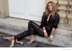Camille Rowe + Florence Kosky Star in Elle Norway by Asa Tallgard