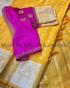 Lehenga Designs Simple, Wedding Saree Blouse Designs, Simple Blouse Designs, Blouse Designs Silk, Saree Blouse Patterns, Designer Blouse Patterns, Maggam Work Designs, Blouse Models, Sumo